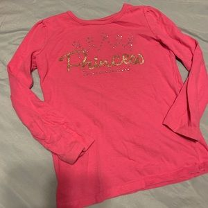 Pink long sleeve shirt